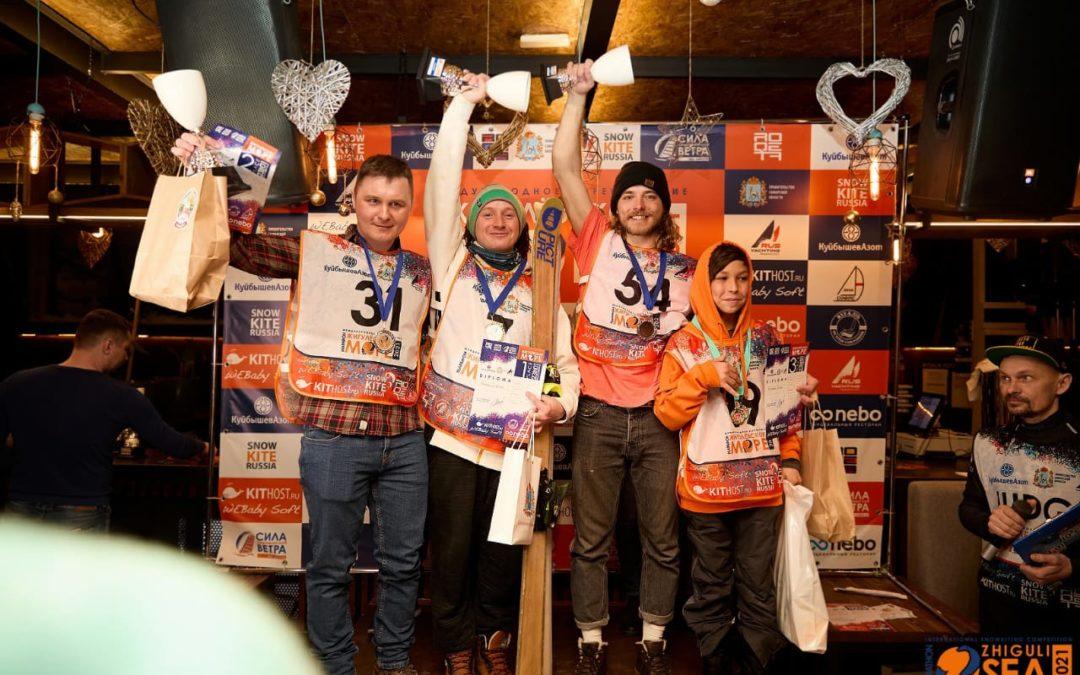 Международные соревнования по сноукайтингу в Тольятти